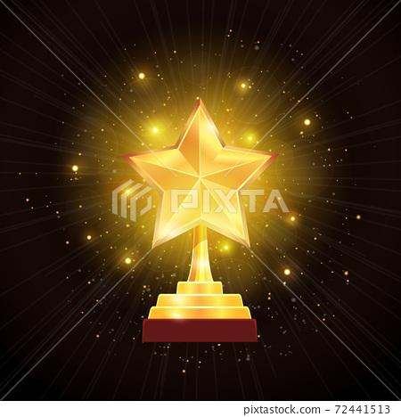 Award Gold Star Background Illustration 72441513