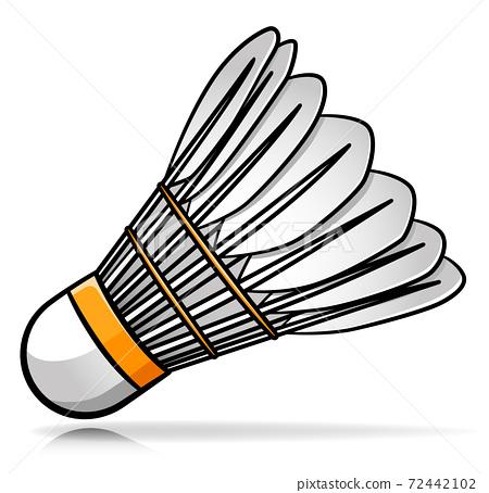 Vector badminton shuttlecock cartoon illustration 72442102