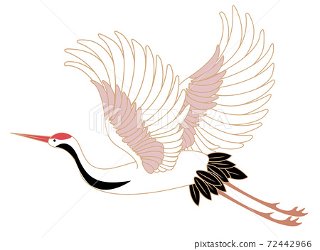 Japanese style vector wild animal Chinese crane bird 72442966