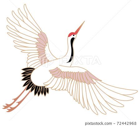 Japanese style vector wild animal Chinese crane bird 72442968