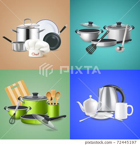 Realistic Kitchen Tools Design Concept 72445197
