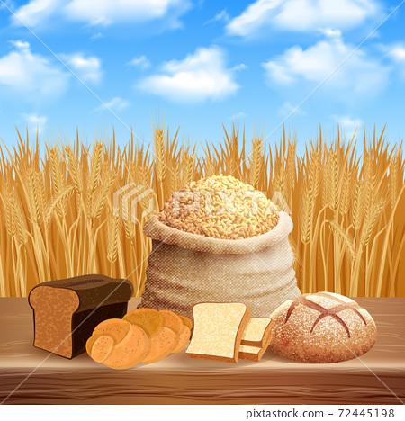 Bread Assortment Background 72445198