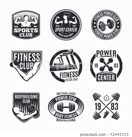 Power Fitness Logo Set 72445725