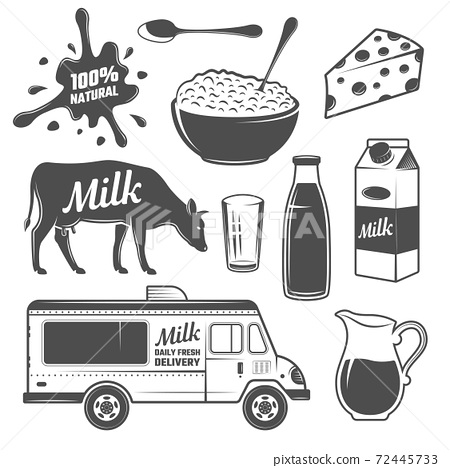 Milk Monochrome Elements Set 72445733