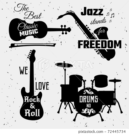 Music Quotes Monochrome Collection 72445734