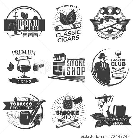 Smoking Tobacco Label Set 72445748