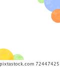 圓形水彩背景(方形) 72447425