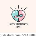 Logo for happy valentine's day. 72447804