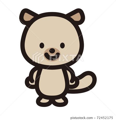 Cute sea otter character 72452175
