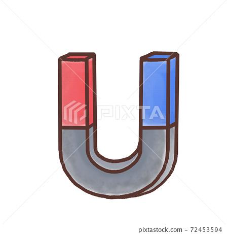 R : 더 동화 같은 과실 U 자형 자석 빨간색 파란색 A 72453594