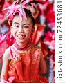 The portrait Single smile of child Drum Mayer students parade 72453681
