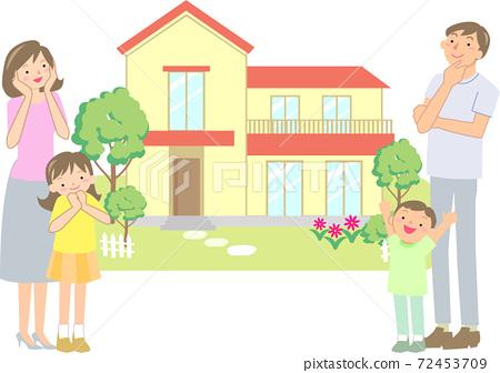 選擇自己的家的微笑家庭 72453709