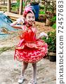Closeup of portrait child Drum Mayer school students parade 72457683