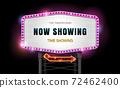 light sign billboard cinema theater 72462400