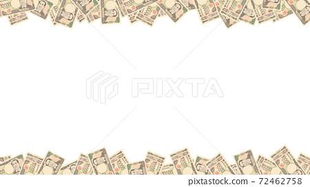 Image illustration of a new 10,000 yen note Frame frame 72462758