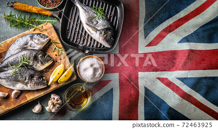 A symbol of the troublesome topic of the fishing industry in the Brexit deal between the EU and the UK 72463925