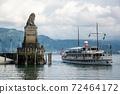 Port Entrance to Lindau Harbour, Bavaria, Germany 72464172