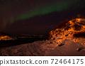 Aurora Borealis near Tromsoe, Norway 72464175