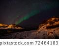 Aurora Borealis near Tromsoe, Norway 72464183