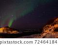 Aurora Borealis near Tromsoe, Norway 72464184