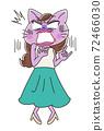 Beautiful OL female character of cat 72466030