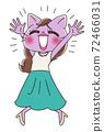 Beautiful OL female character of cat 72466031