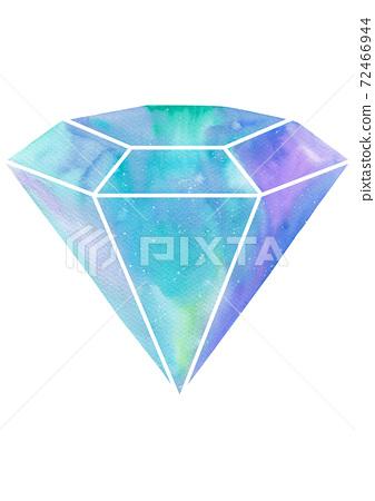 다이아몬드 수채화 72466944