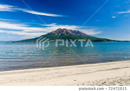 Sakurajima in the blue sky 72472015