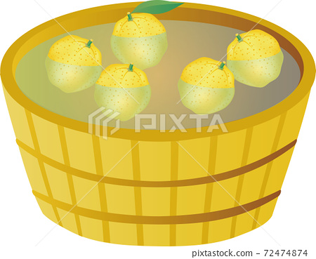 冬季柚子柚子柚水果簡單圖素材 72474874