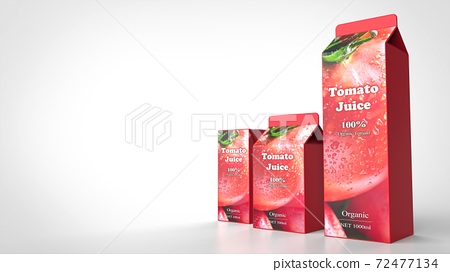 tomato juice 3 size right 3d rendering 72477134