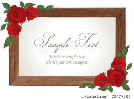 玫瑰木框(紅色) 72477202