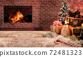 Merry Christmas and Happy New Year background. Winter season holiday decoration with gift and present. 72481323
