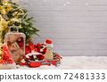 Merry Christmas and Happy New Year background. Winter season holiday decoration with gift and present. 72481333