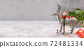 Merry Christmas and Happy New Year background. Winter season holiday decoration with gift and present. 72481334