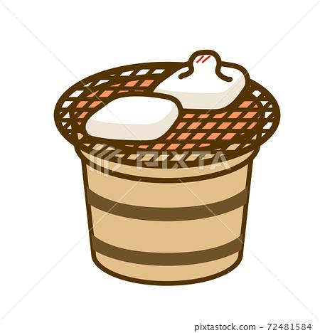 烤年糕的插圖 72481584