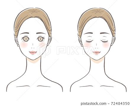女性的臉美麗圖 72484350
