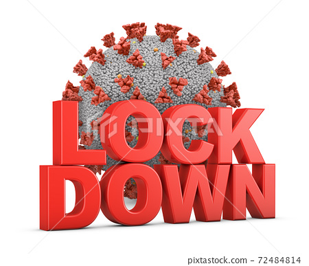 LOCKDOWN with coronavirus 72484814