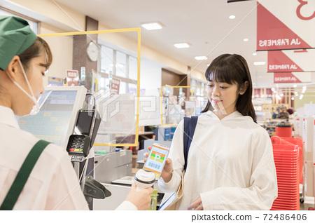 超市結算快速付款 72486406