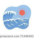 大浪和陽光 72486993