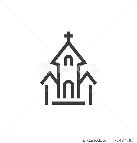 church icon, vector 72487789