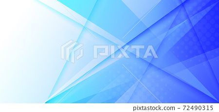 Abstract white and blue gradient triangles overlapping background. 72490315