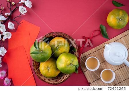 橘子 過年 農曆新年 Tangerine Chinese lunar new year 蜜柑みかん 72491266