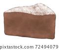 蛋糕巧克力,一種顏色 72494079