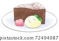格特高巧克力在盤子裡加心巧克力和新鮮奶油,1線色 72494087