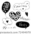 the word thank you written in different languages 72494970