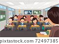 老師在學校教學生 72497385