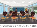 老師在學校教學生 72497386