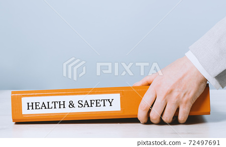 Health and safety labor protection. Folder with documents or instructions 72497691
