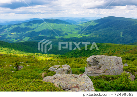 great alpine scenery in summertime 72499665