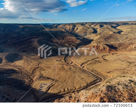 Aerial view of the Beautiful landscape around Vermilion Cliffs National Monument 72500653